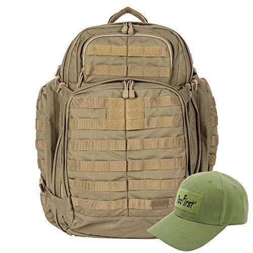 KLK Komplettpaket aus Rush 72 Rucksack und TacFirst Twill Cap (328 Sandstone)