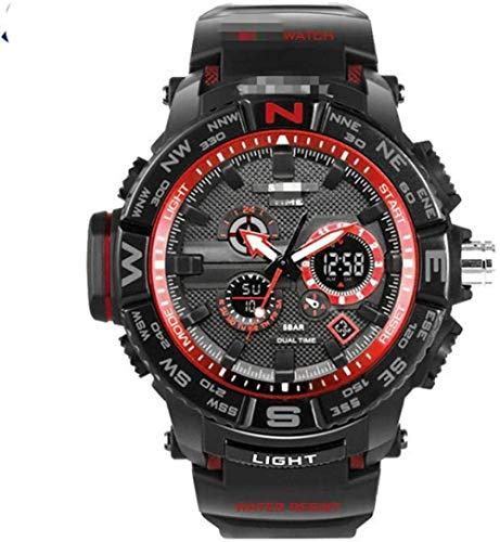 JDHFKS Reloj de los Hombres Relojes LED Digital del Deporte del Mens del Cuarzo del Reloj de Choque Militar 21cm Resistente Reloj de Pulsera