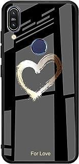 Caler Cubierta Trasera de Vidrio Templado, Funda Reemplazo para Xiaomi mi 8 Lite Borde de Estuche Silicona Suave y Marmol ...