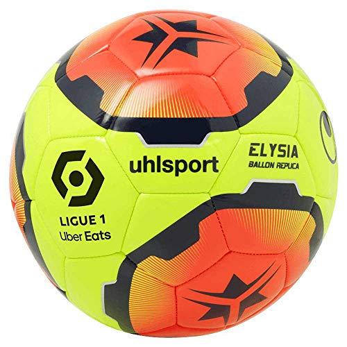uhlsport Ballon de Football Unisexe pour Adulte Elysia, 1001704012020, Jaune Fluo/Orange Fluo/Marron, 5