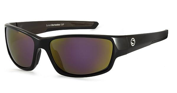 Sunbelt Mens Barbados Polarized Wrap Sunglasses Black 63 mm