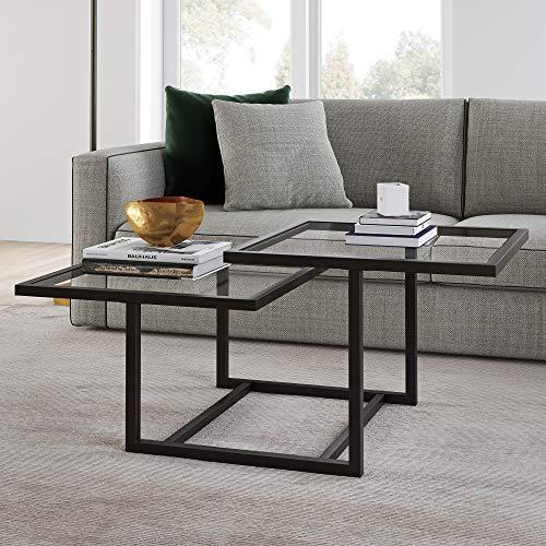 Henn&Hart Modern Chic 2-Tier Coffee Table for Living Room, 18