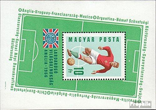 Prophila Collection Ungarn Block53A (kompl.Ausg.) postfrisch 1966 Fußball-WM 1966 in England (Briefmarken für Sammler)