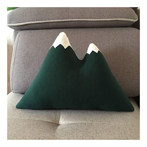 Almohada Almohada de Viaje Triángulo de felpa almohada juguete creativo de montaña de nieve sofá suave del amortiguador de la decoración del hogar infantil Almohada Almohada de Viaje Almohada Cervical