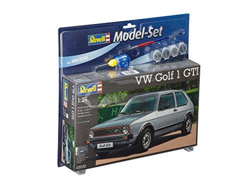 Revell Modellbausatz Auto 1:24 - Volkswagen VW Golf 1 GTI im Maßstab 1:24, Level 4, originalgetreue Nachbildung mit vielen Details, , Model Set mit Basiszubehör, 67072