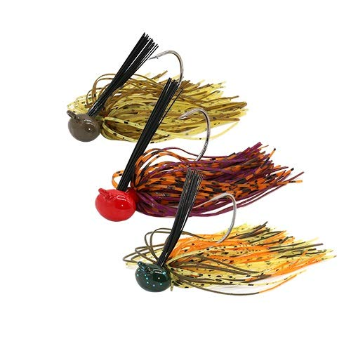 L-MEIQUN, 3 pz/Lotto 12g Esca Spinnerbait Fishing Lure Buzzbait Wobbler Chatterbait for Bass Pike Walleye Fishing (Colore : Combo 02)