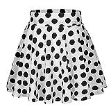 Red Black White Women Skirts Polka Dot High Waist Vintage Skirt Skater Midi Skirt Skirt,WH,XL,United...