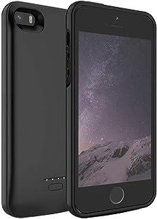 Funda Bateria para iPhone SE/5s/5, Ennotek 4000mAh Batería Cargador Externa para iPhone SE/5s/5 Recargable Backup Charger Case Portátil Power Bank Case (Negro)