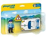 PLAYMOBIL 1.2.3 - Coche de policía, playset (6797)