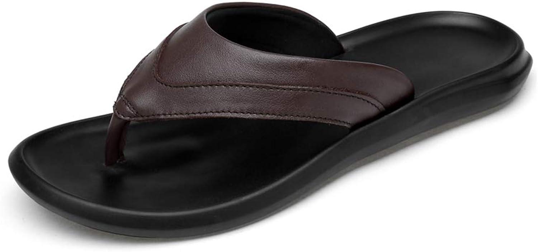 GYYFC Men's Leisure Flip Flops British Style Indoor Non-Slip Sandals Outdoor Lightweight Cozy Thong Beach shoes