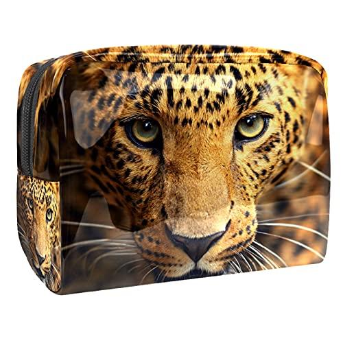 Bolsa de cosméticos para Mujer Animal Tiger Majesty Adorable y espaciosa Bolsas de Maquillaje Viaje Impermeable Bolsa de Aseo Accesorios Organizador 7.3x3x5.1 Pulgadas