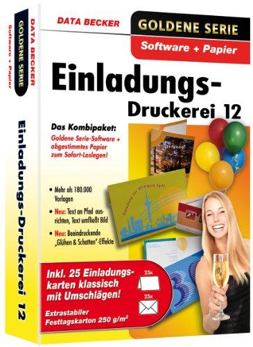 Einladungs-Druckerei 12 mit Papier