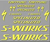 Ecoshirt 4C-VID9-H5V2 Aufkleber S-Works Tarmac Bike R272 Stickers Aufkleber Decals Autocollants Adesivo(Gelb
