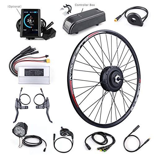 XJYA Kit Bicicleta eléctrica para Bicicleta Kit de conversión de 48V 500W del Cubo Trasero Motor eléctrico con 20 '' 26 '' 27,5 '' de la Rueda 700c con la exhibición,DC c965,20 Inch