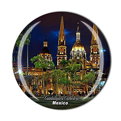 Guadalajara Cattedrale Messico Viaggi Souvenir Regalo 3D Cristallo Frigorifero Magnetico Decorazione Casa Cucina Adesivo Magnetico