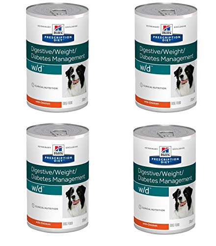 Petgnam 12 Lattine Hill's Prescription Diet w/d Digestive Weight Diabetes Management per Cani Diabetici+ Regalo Campione Crocchette