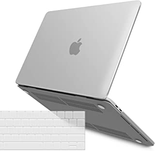 IBENZER MacBook Pro 13 Inch Case 2019 2018 2017 2016 Release A2159 A1989 A1706 A1708, Soft Touch Hard Case Shell Cover for Apple MacBook Pro 13.3 with/Without Touch Bar, Frost Clear,MMP13T-CL+1A