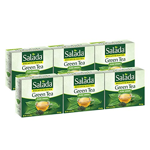 Salada Decaffeinated Green Tea, 240 Individually Wrapped Tea Bags (Pack of 6)