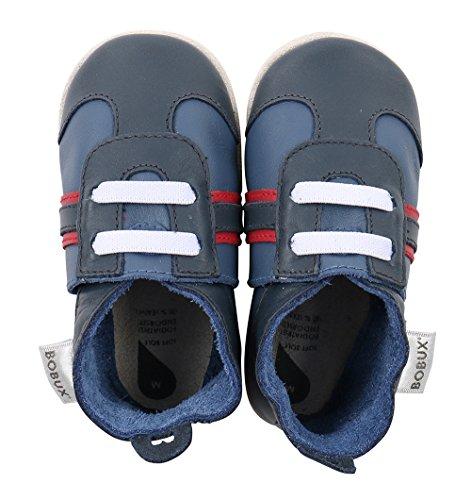 Bobux BBG 4237 - Zapatos para bebé, color azul marino y rojo azul marino/rojo Talla:M