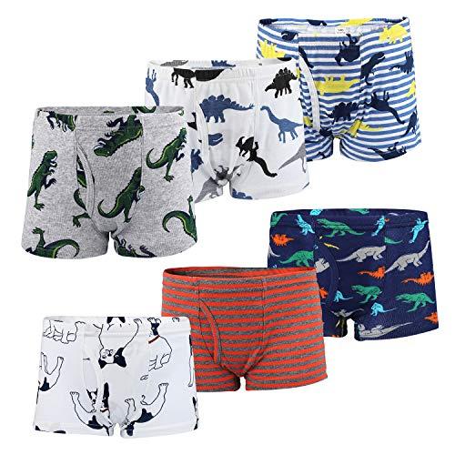 Flyish Jungen Boxershorts Jungen Unterwäsche Baumwolle 6er Pack, Jungen B, 3-4 Jahre (Herstellergröße- 110)