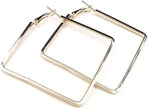 Best large square hoop earrings Reviews