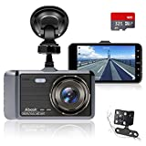 Dash Cam Front and Rear Camera, Abask Dash Cam 1080P Full HD, Dash