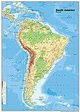 Mapa América del Sur físico–Vinilo–A1tamaño 59,4x 84,1cm