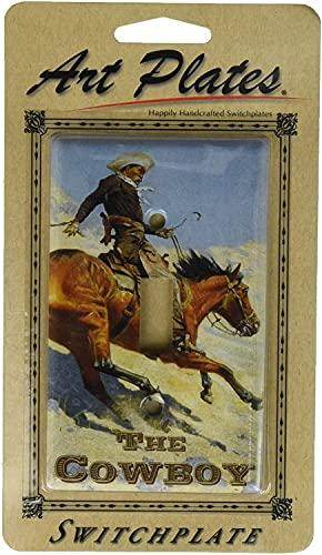 Placa de cubierta de salida de interruptor de luz Placa de interruptor de caballo/vaquero: palanca simple
