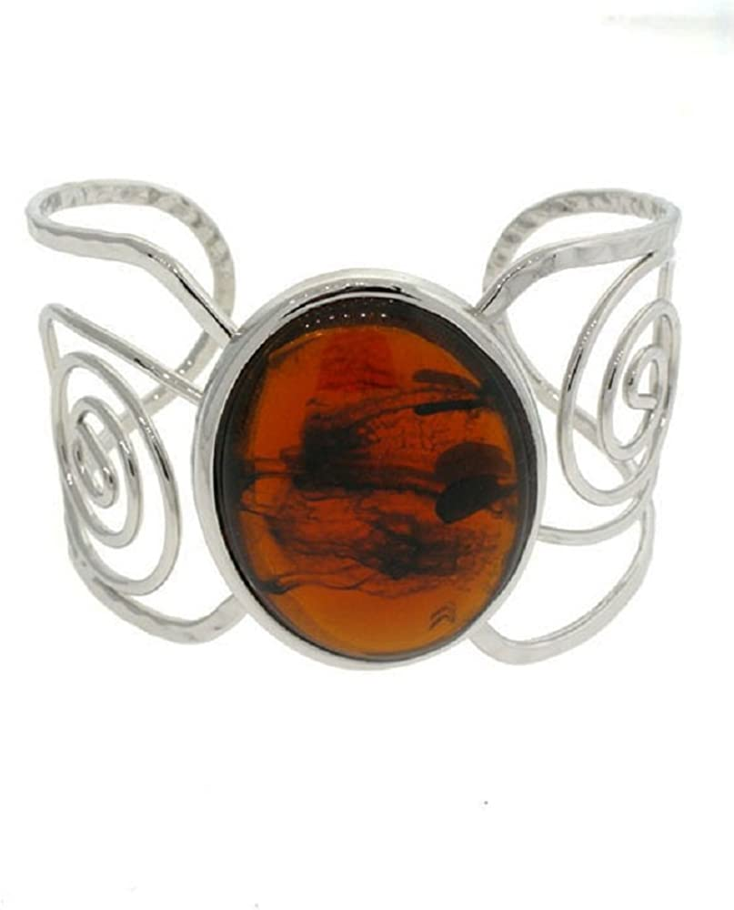 Rose's Gift Store~Fashion Jewelry Oval Brown Cuff Bracelet