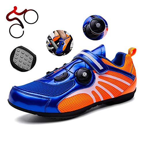 NNZZY Women's Men's Road Cycling Shoes Professional Non-Locking Mountain Bike Shoes Hard Bottom Adjustable Lightweight Biking Footwear Non-Slip Wearresistant Shoes,41
