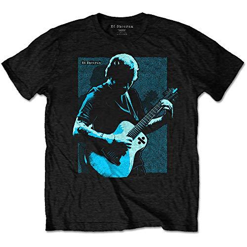 Rock Off Ed Sheeran Chords Oficial Camiseta para Hombre (Large)