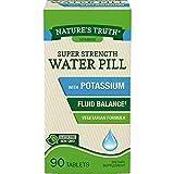 Nature's Truth Super Strength Water Pill with Potassium | 90 Count | Caffeine Free | Vegetarian, Non-GMO, Gluten Free