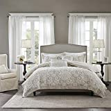 Harbor House Cotton Comforter Set-Trendy Tufted Textured Design All Season Down Alternative Cozy Bedding with Matching Shams, King/Cal King(110'x96'), Taupe, 3 Piece
