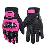 LVNRIDS 1 paire de gants de sport de moto pour écran tactile L rose