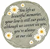 Spoontiques - Garden Décor - You Left Us Beautiful Memories - Memorial Stepping Stone - Decorative Stone for Garden