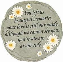 Spoontiques - Garden Décor - You Left Us Beautiful Memories - Memorial Stepping Stone - Decorative Stone for Garden