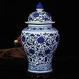 Vase Antiguo Porcelana Azul Y Blanca Jarrón Forliving Sala,Tradicional...