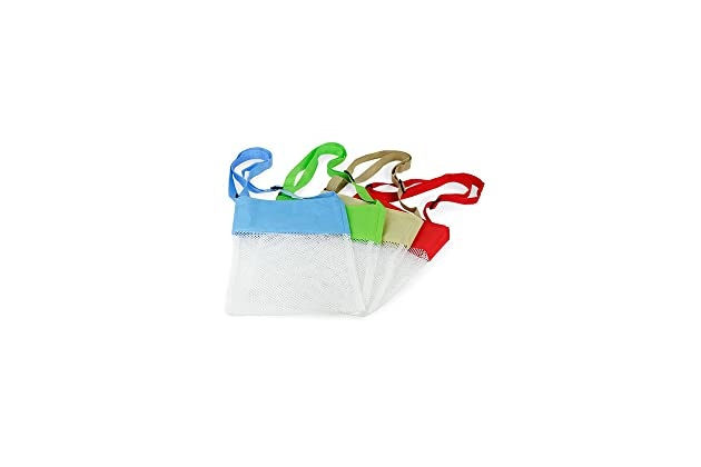 d93cf7f3fdaf Amazon.com  Seashell Beach Mesh Bags - Set of 4  Kitchen   Dining