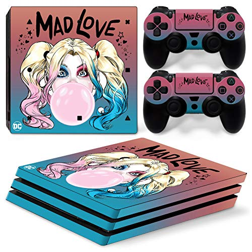 PS4 Pro Whole Body Vinyl Skin Sticker Decal Cover for Playstation 4 Pro System Console and Controllers - Mad Love