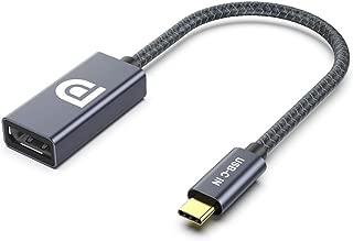 ELUTENG USB C to DisplayPort アダプター 4K 60Hz Thunderbolt 3 対応 Type-C Displayport 変換アダプタ DP 1.2 アルミ製 USBC(オス) - DP(メス) コンバーター Macbook Pro 2017 2016/Dell XPS 13,15/Lenovo Yoga 900などに対応