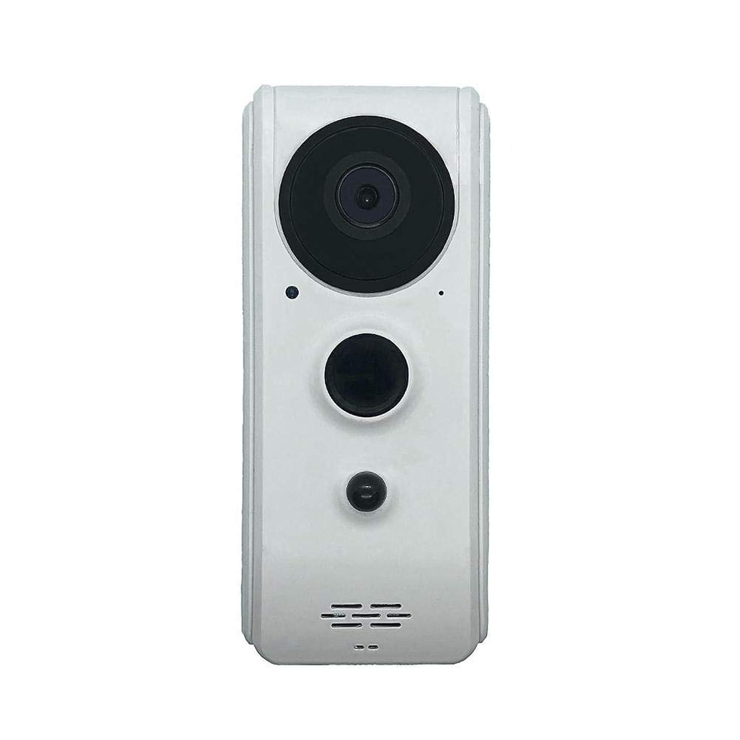 仮装費やすしっとり無線ビデオドアベル 可視ドアベル ワイヤレス インテリジェント チャイム WiFi ベル 720P HD スピーカー内蔵 インターホン付き スマホ対応 2色選べる hjuns-Wu