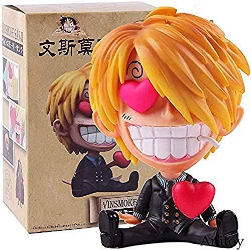 MNZBZ Anime Einteilige Statue GK Sanji SD Mini PVC Vinsmoke Sanji Figurensammlung Modell Spielzeug
