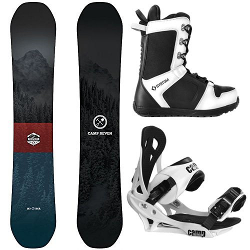 Camp Seven Package Redwood Snowboard 156 cm Summit Bindings-System APX Boot 10