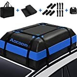 Aocoom Car Roof Bag Rooftop Cargo Carrier, 15 Cubic Feet Waterproof Car Top Luggage Storage Bag with Anti-Slip Mat, 5 Reinforce Straps and 4 Door Hooks for Vehicles with Racks or Without Racks