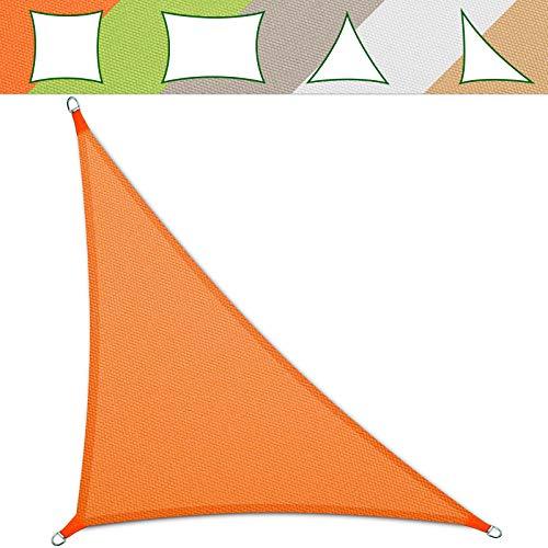 casa pura Sonnensegel wasserabweisend imprägniert | Testnote 1.4 | Dreieck | UV Schutz Größen (orange, 3,6 x 3,6 x 5,1 m)
