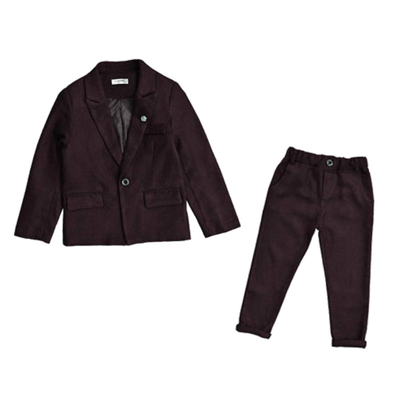 XFentech 男の子 結婚式 フォーマルスーツ - ボーイズ ファッション ジャケットパンツ 紳士服 子供服 発表会 入学式 卒業式 スーツ 洋服 スーツ,