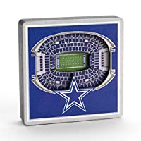 YouTheFan NFL Dallas Cowboys - 3D StadiumView Magnet3D StadiumView Magnet, Team Colors, Small (8493328)