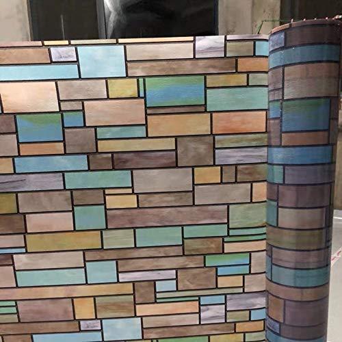 N / A Lackierte Ziegel Fenster Sichtschutzfolie Nicht klebende Dekoration PVC-Folie Glasaufkleber elektrostatische Aufkleber Bad Schiebetür Hauptdekoration Sichtschutzfolie A2030x100cm