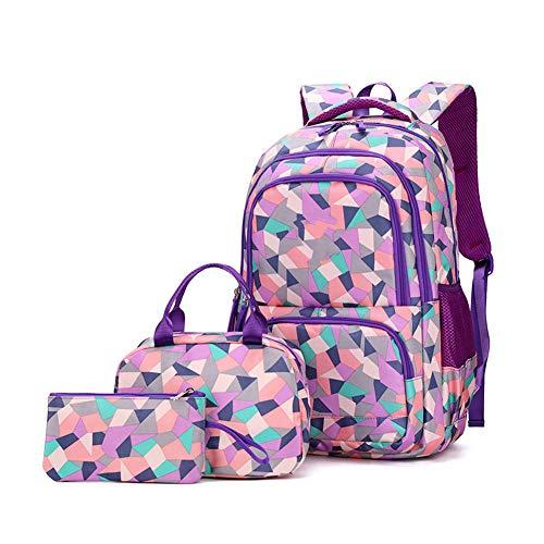Youxiu Mochilas Infantiles Girls School Bag Set Mochilas Chicas Niña Bolsas Escolares,Mochilas para Escuela Viaje,Mochilas para el Instituto,D,Large