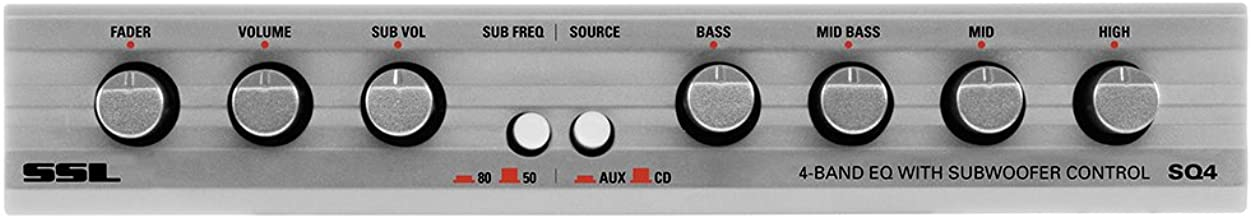 Sound Storm Labs SQ4 4 Band Pre Amp Car Audio Equalizer with Front Rear and Subwoofer Outputs